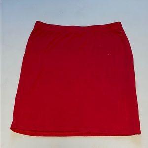 Woman's Fashion Nova Red Mini Pencil Skirt L